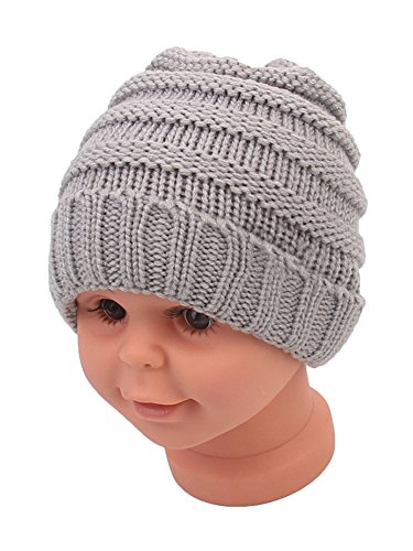 Beanie Skull Slouchy Caps Unisex Baby Boy Girls Warm Crochet Winter Wool Ribbed Knit Ski Hat
