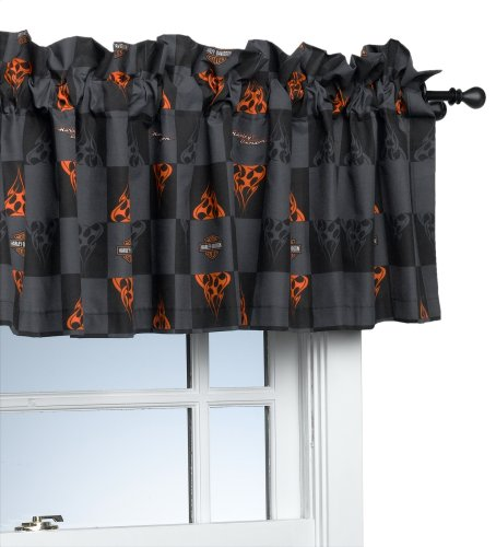 Harley-Davidson Flames 84-by-15-Inch Window Valance