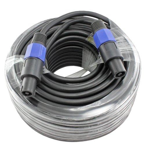100 Foot 12 Gauge Speakon Compatible Speaker Cable For PA DJ Speakers by Yovus