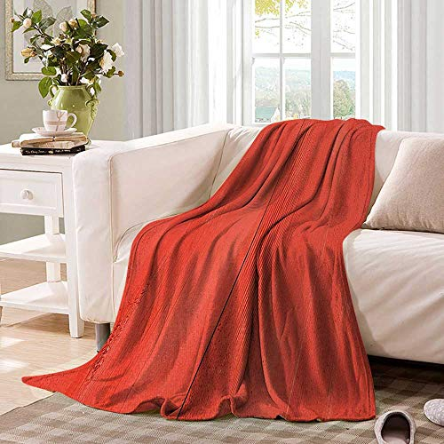 Anhuthree Coral Super Soft Lightweight Blanket Vintage Wood Board Plank Texture Image Aged Barn Door Lumber Grunge Natural Surface Summer Quilt Comforter 90''x70'' Dark Coral by Anhuthree (Image #1)