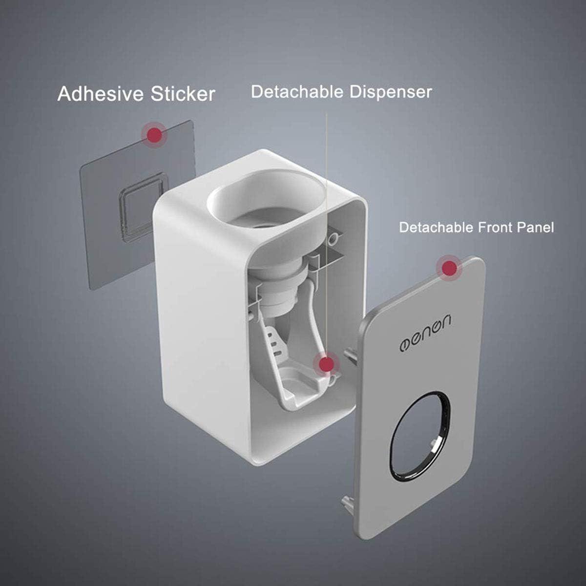 A Dispenser automatico di dentifricio per montaggio a parete L/&H Gadgets/® set impermeabile 7 x 6 x 11 cm