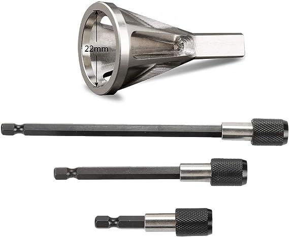 2pcs Deburring External Chamfer Tool Metal Remove Burr Tools for Chuck Dril #S4