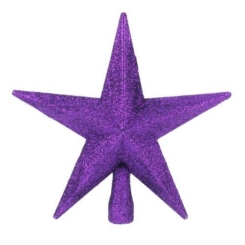 Viola Glitter Star Albero Di Natale topper (20) Christmas Direct TD126324PU
