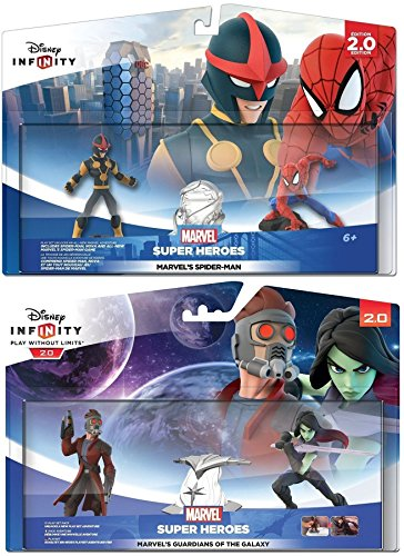 Disney Infinity 2.0: Guardians Of The Galaxy + Ultimate Spider-Man Playsets