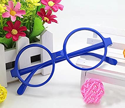5912e4686e5 RICISUNG Round Glasses Frame Fancy Dress Accessory(blue)  Amazon.co.uk  DIY    Tools