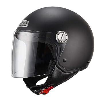 NZI 150263G067 Capital Visor Casco de Moto, Color Negro Mate, Talla S(55