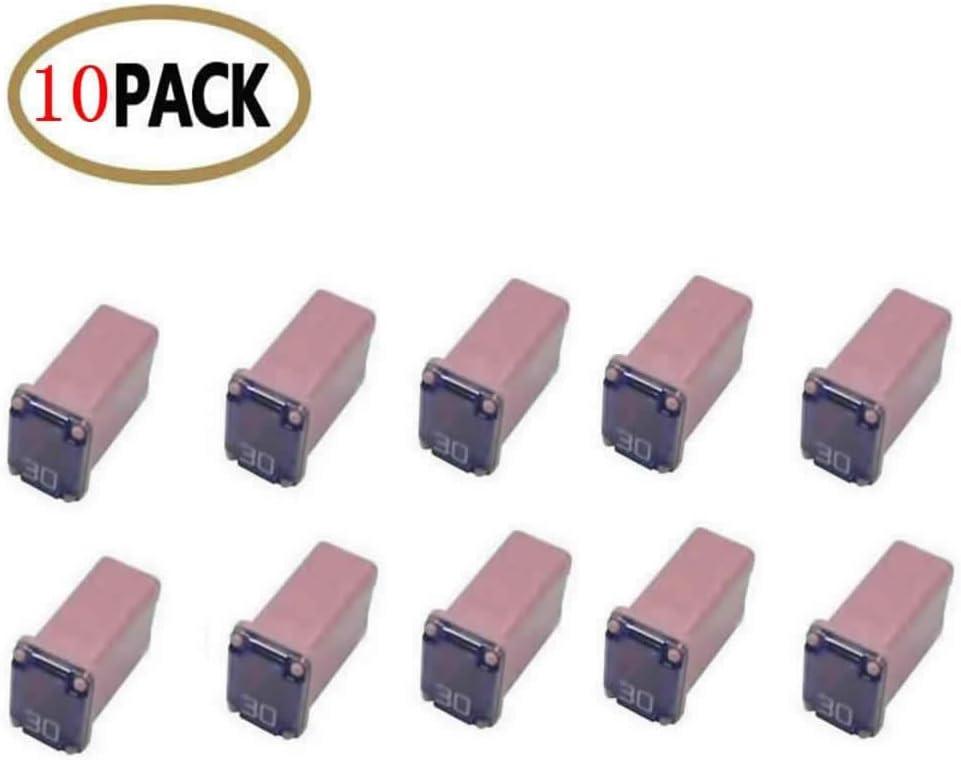 10 Pc Automotive Mcase Mini Kasten Shaped Cartridge Fuse Kit für Cars, Trucks, und Suvs (30 Amp)