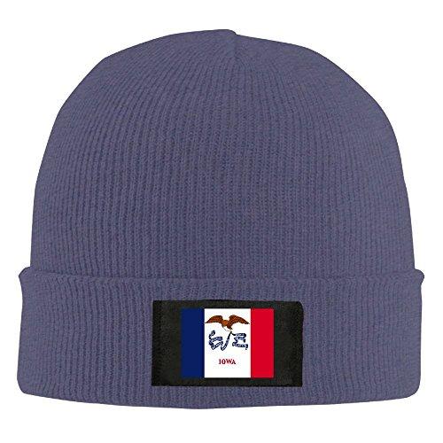 Chuanwang Flag Of Iowa Men's Warm Winter Hat Knit Beanie Skull Cap Unisex