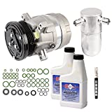 New AC Compressor & Clutch With Complete A/C Repair Kit For Chevy Cavalier 2.2L - BuyAutoParts 60-80193RK New