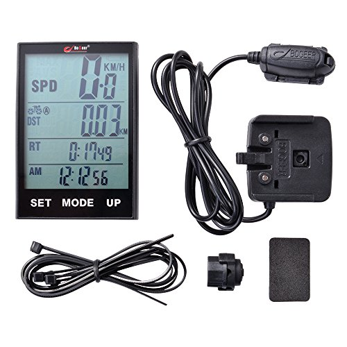 "Price comparison product image XCSOURCE 2.7"" LCD HD Large Screen Bike Bicycle Digital Computer Cycling Waterproof Backlight Speedometer Odometer CS449"