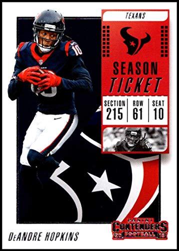 2018 Panini Contenders Season Tickets Football #62 DeAndre Hopkins Houston Texans Official NFL Trading - Football Texans Tickets Houston