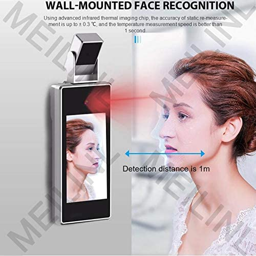 MEILINL Non Contact Biometric Detector Infrared Thermometer Temperature Measurement Fever Facial Recognition Time Attendance Access Controller for Entrance and Exit