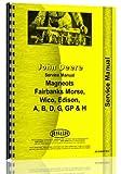 John Deere Magnetos FM Wico Edison Service Manual