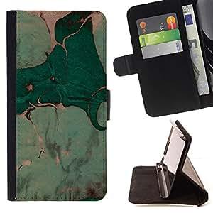 Ihec-Tech / Negro Flip PU Cuero Cover Case para Sony Xperia Z1 L39 - Deja la pintura de la acuarela Arte