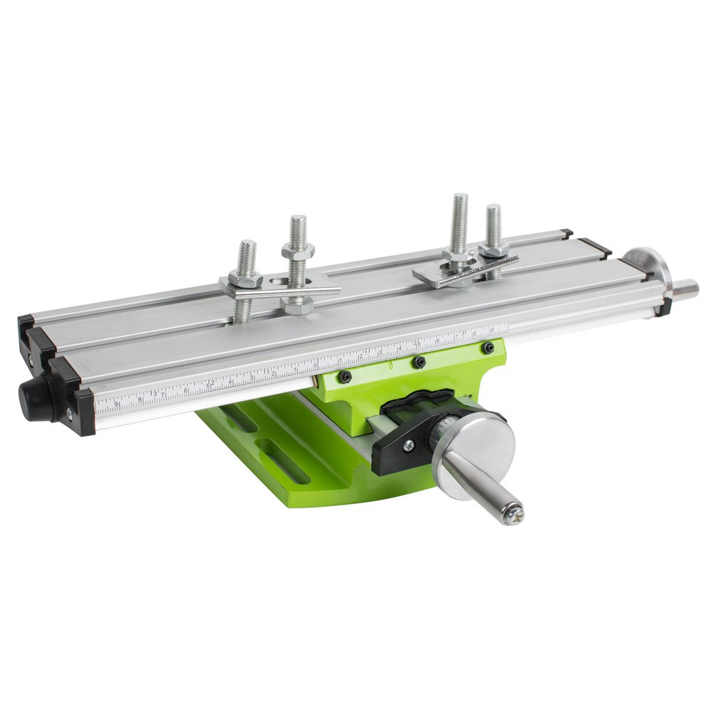 Multifunction Worktable Milling Machine, Lolicute Cross Sliding Working Table Milling Vise Fixture Machine for DIY Lathe Bench Drill