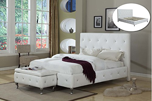 white king bed amazoncom - White King Bed Frame