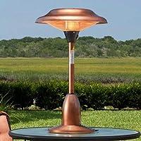 Fire Sense Copper Finish Table Top Round Halogen Patio Heater-p from Fire Sense