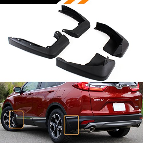 Cuztom Tuning FRONT & REAR SPLASH GUARD MUD FLAP SET FOR 2017 2018 ALL NEW HONDA CR-V CRV