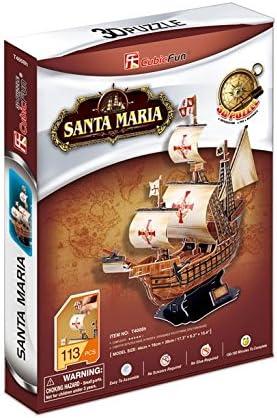 113 Pieces CubicFun T4008h Santa Maria Vessel Models 3D Puzzle