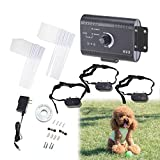 Happy Habor 3x Dog Training Electric Shock Collar for Pets with Fencing System Water Resistant,Over 1.2 Acres