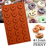 Product review for 18 Cavity Mini Donut Pan,Nonstick Silicone Donut Mold for baking, Diameter 1.5 x 0.5 in,BPA Free