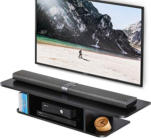 FITUEYES Floating Entertainment Center Wall Mounted Media Console TV Stand Component Shelf