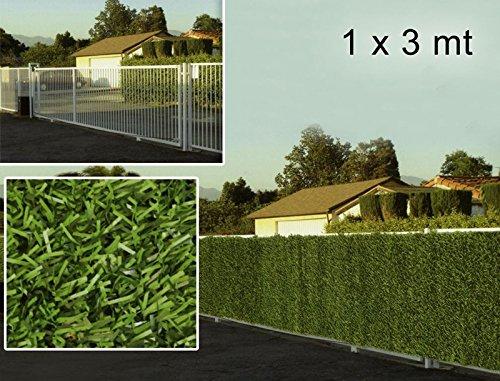 bordura bicolore siepe artificiale 1x3 metri esterno alta qualit/à privacy campeggio