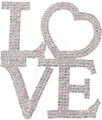 Love-Cake-Topper-Marriage-Wedding-Vow-Anniversary-Bridal-Shower-Crystal-Rhinestones-on-Silver-Metal-Party-Decorations-Favors