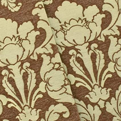 Amazon.com: Brown/Ivory Chenille Floral Baroque Home ...