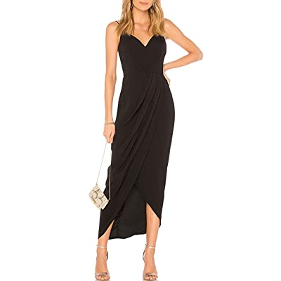 CMZ2005 Women's Sexy V Neck Backless Maxi Dress Sleeveless Spaghetti Straps Cocktail Party Dresses 71729: Clothing