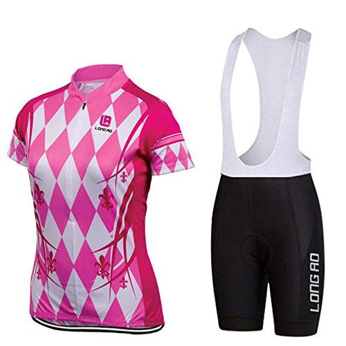 対人アナロジー段階サイクリングウエア ショート丈 2点セット 女性用 エレガント レーサーパンツ パンツ ゲルパッド 熱反射 UVカット 立体裁断 バイク サイクルジャケット S/L/M/XL/XS L012