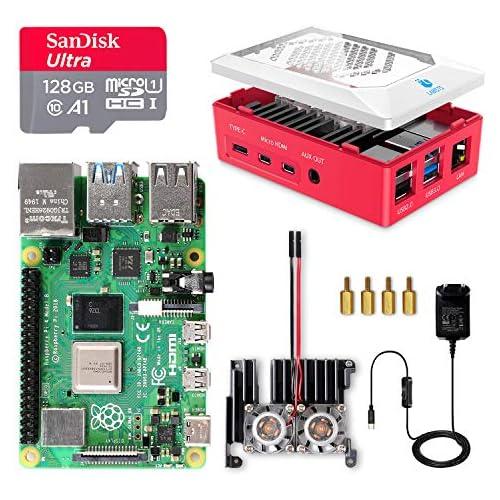 chollos oferta descuentos barato LABISTS Raspberry Pi 4 8GB Kit Incluido Tarjeta SD 128GB Precargada con Raspberry Pi OS 2 Ventilador Disipadores de Calor Grande 5 1V 3A Tipo C con ON Off 2 Micro HDMI Caja y Lector de Tarjetas