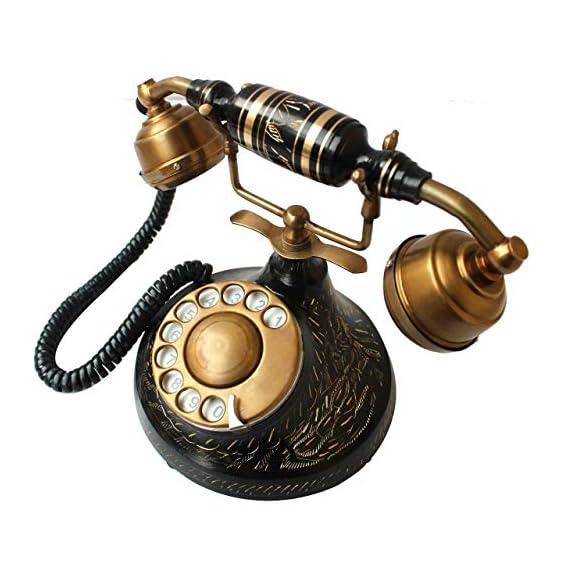 Vintage Collection Brass Antique Landline Telephone (Gold)