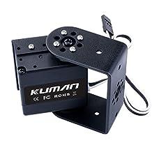 Kuman 17KG High Torque Digital Robot Servo Motor with 270 Degree Rotating, U Bracket and Side cover servo Mount Case for RC Robot Helicopter Airplane Boat KY72-1