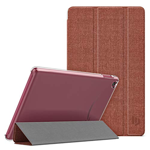 Dadanism Case Fits All-New Amazon Kindle Fire 7 Tablet (9th Generation, 2019 Release), Translucent PC Back Shell Ultra Slim Lightweight Trifold Stand Cover with Auto Sleep/Wake - Denim Plum (Best Cheap Pc Cases 2019)