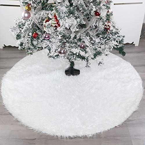 Zaeel árbol de Navidad Falda Pulgadas Suave Nieve Blanco árbol de ...