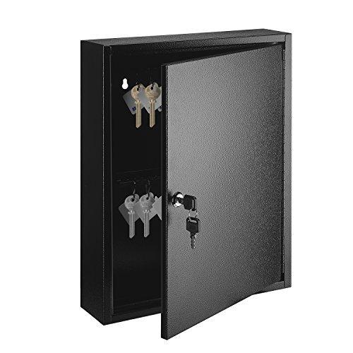 flexzion clóset de llaves antirrobo de acero caja con 60capacidad de color etiquetas de llave y ganchos–seguro de...