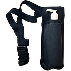 TOA Single Bottle Holster Adjustable Strap w/6oz Bottle for Massage Oil, Lotion, Cream