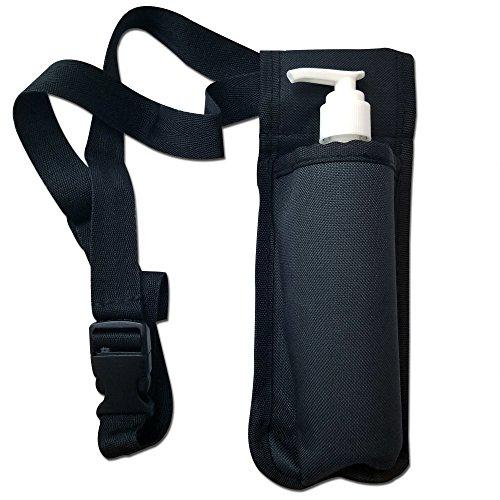 TOA Single Bottle Holster Adjustable Strap w/6oz Bottle for Massage Oil, Lotion, Cream - Bottle Massage Oil