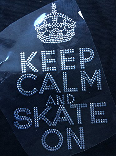 [Rhinestone Keep Calm Skate on Hot Fix Transfer Iron On] (Roller Skating Costumes)