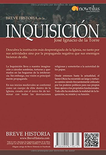 Breve historia de la Inquisición (Breve Historia / Brief History) (Spanish Edition): de la Torre Rodrigo: 9788499675671: Amazon.com: Books