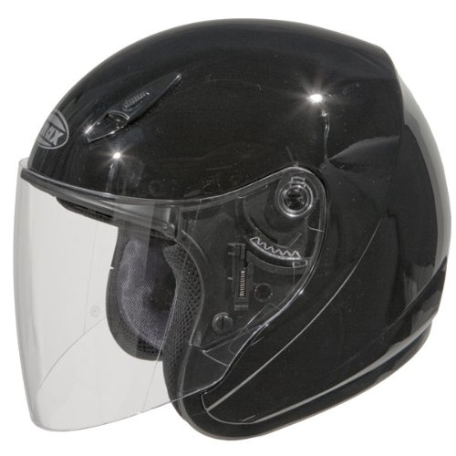 GMAX GM17 Unisex-Adult Open Face Motorcycle/Scooter Street Helmet (Black, Large)