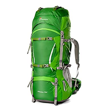 Mountaintop Outdoor Waterproof Hiking mountaineering Internal Frame Backpack 5805 Green