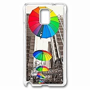 Colourful Umbrella Custom Back Phone Case for Samsung Galaxy Note 4 PC Material Transparent -1210159 hjbrhga1544
