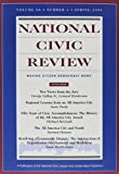 National Civic Review, No. 1, Spring 1999 9780787949099
