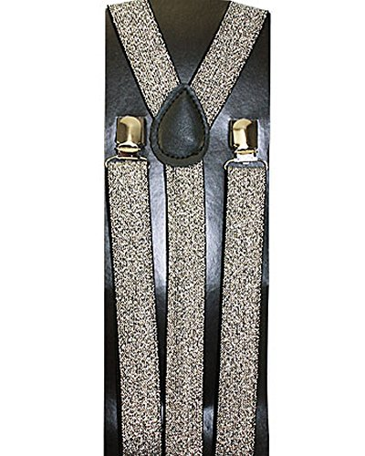 New Suspender Toddler Kids Boys Girls Child (sparkle silver) -