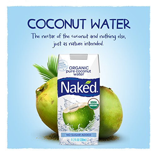 Naked 100% Organic Pure Coconut Water, 11.2-ounce (Pack of