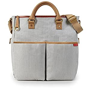 Skip Hop Duo Special Edition Carry All Travel Diaper Bag Tote with Multipockets, One Size, French Stripe