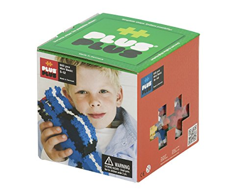 PLUS PLUS - Construction Building Toy, Open Play Set - 600 Piece - Basic Color Mix