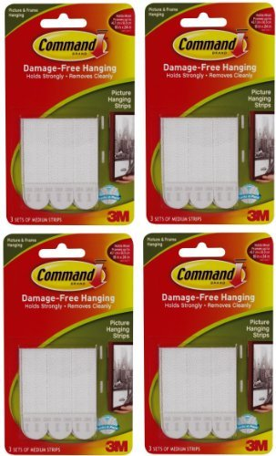 Command Medium Picture Hanging Strips, 12-Pairs